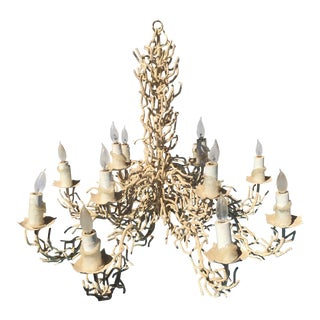 Vintage Bruce Eicher Twig Chandelier 12 Light As-Is For Sale