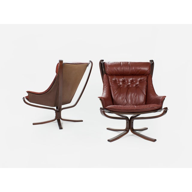 1970s Sigurd Resell for Vatne Møbler Falcon Lounge Chairs- A Pair For Sale - Image 13 of 13