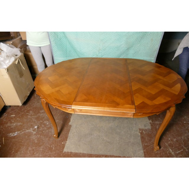 French Cherry Draw-Leaf Table - Image 2 of 6