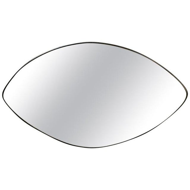Italian Midcentury Oval Brass Wall Mirror, 1950s For Sale - Image 10 of 10