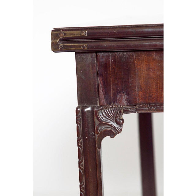 18th Century George III Mahogany Concertina Action Card Table For Sale In Dallas - Image 6 of 13