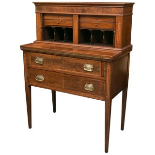 American Federal Writing Desk With Tambour Doors For Sale
