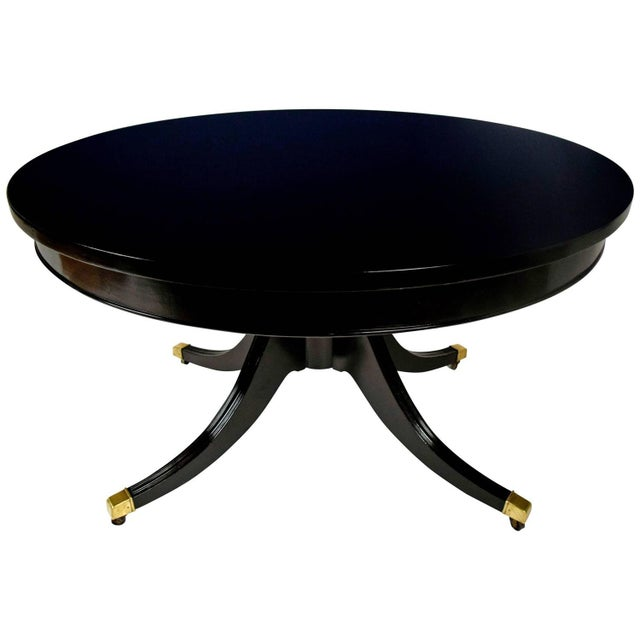 Antique Regency Round Ebonized Center/Dining Table - Image 1 of 5