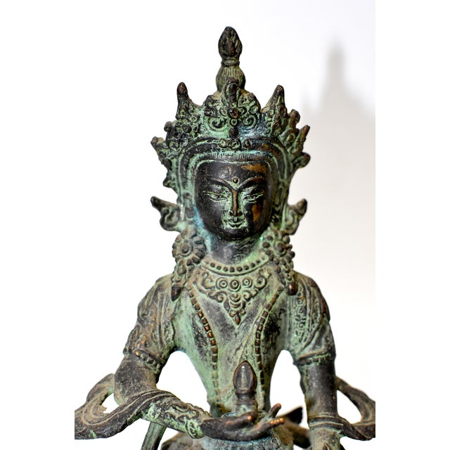 Bronze Tibetan Couple Statue Vajrasattva Yab Yum Early 19th Century For Sale In Los Angeles - Image 6 of 13