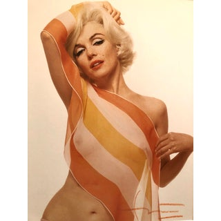 Marilyn Monroe / Striped Scarf Bert Stern Photograph Circa 1962 For Sale