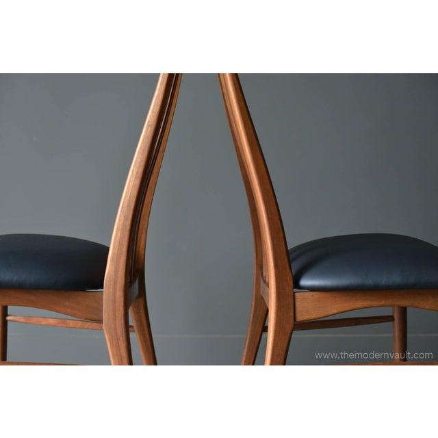 "Black 1960s Vintage Koefoed of Denmark Walnut High Back ""Eva"" Dining Chairs - Set of 8 For Sale - Image 8 of 12"