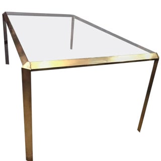 Mid-Century Modern Sculptural Brass Dining Table