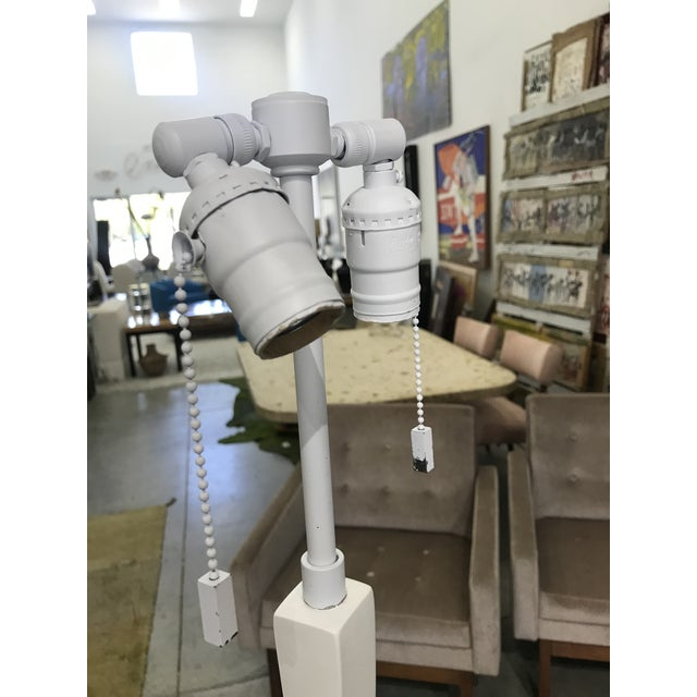 Plaster Tete De Femme Floor Lamp by Sirmos After Giacometti For Sale - Image 11 of 13