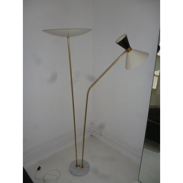 Metal 1960 Stilnovo Style Italian Floor Lamp For Sale - Image 7 of 7