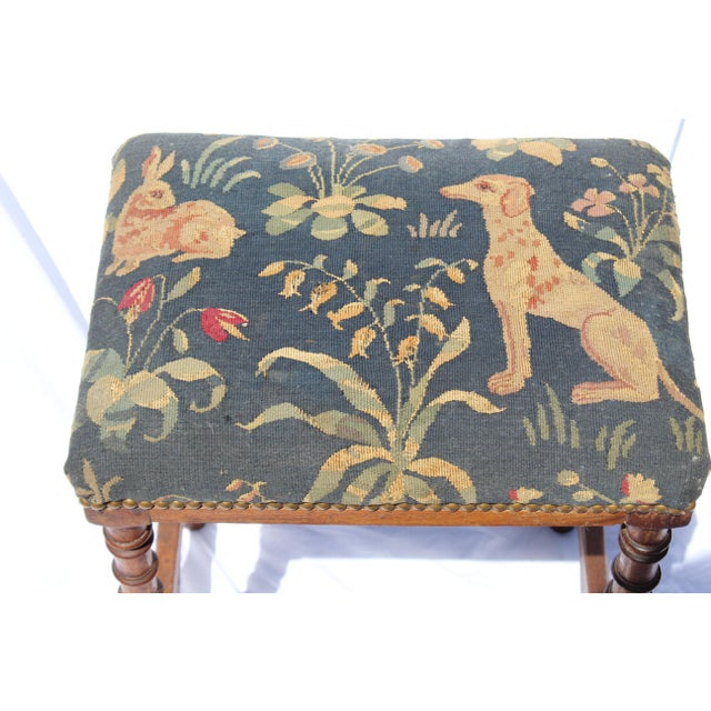 17th Century 17th C. French Needlepoint Stool For Sale - Image 5 of 8