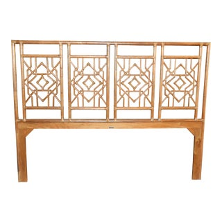 Boho Chic David Francis Furniture White Tulum Kind Headboard (Only White Available) For Sale