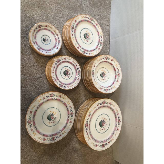 """English Royal Doulton """"Urn"""" Pattern Dinner Set - 80 Pieces For Sale - Image 10 of 13"""