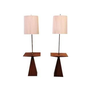 Harvey Probber Rosewood Lamp Table Pair