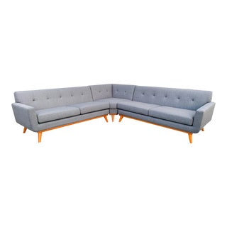 Modern West Dark Grey Sectional Sofa For Sale