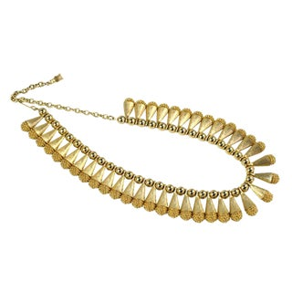 1960s Egyptian Style Collar Necklace For Sale