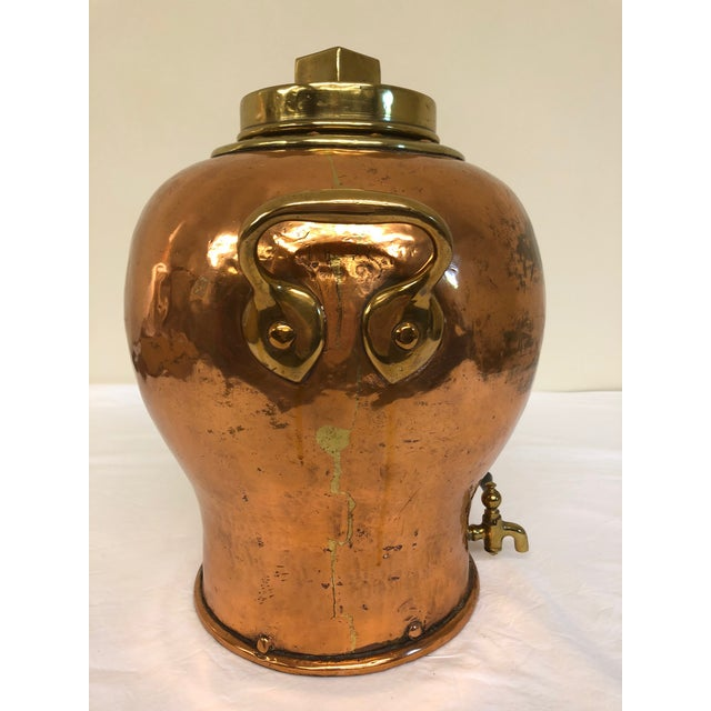 Brass & Copper Nautical Water Vessel For Sale - Image 4 of 8