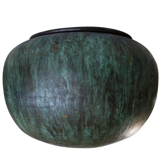 Hand Beaten Copper Vessel From Java Indonesia For Sale - Image 4 of 6