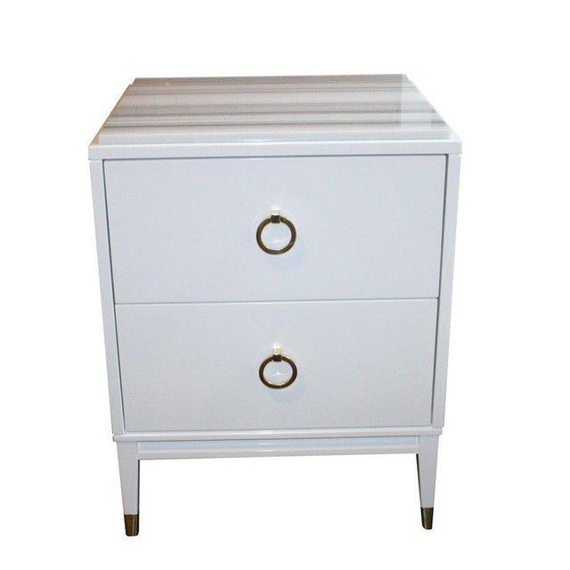 Mid-Century Modern Customizable Spencer Marble-Top Night Tables For Sale - Image 3 of 7
