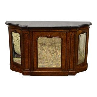 Antique 1800's Burl Walnut Mirrored Sideboard