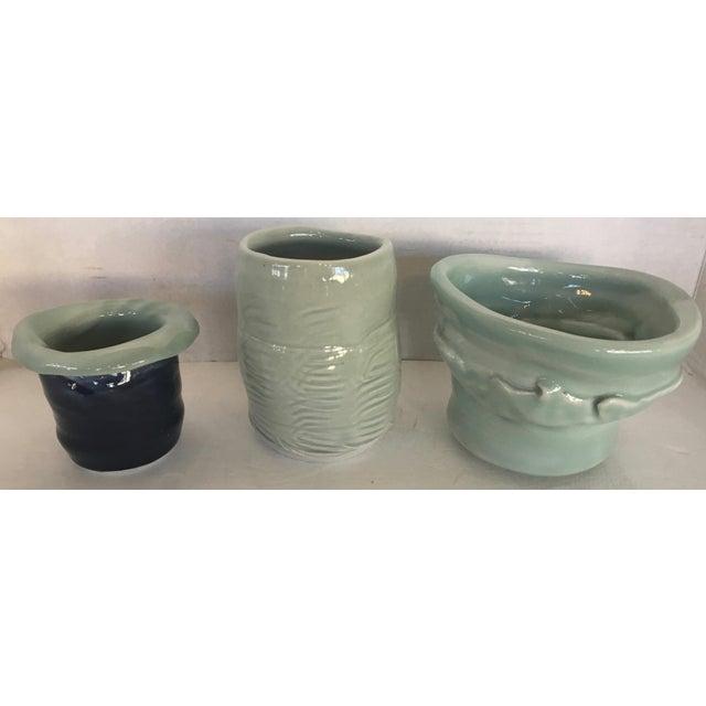 Three Studio Pottery Vases Signed - Image 2 of 13