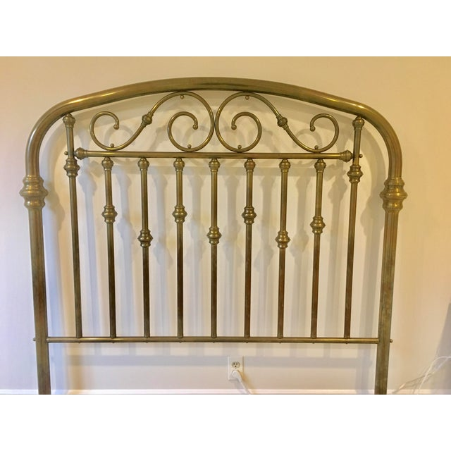 Gorgeous vintage solid brass, queen size headboard. Excellent quality, heavy gauge solid brass. Will work with any...