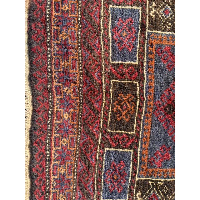 Vintage Persian Baluchi Small Area Rug- 2′10″ × 4′4″ - Image 3 of 8