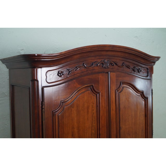 French Louis XV Style Fruitwood Armoire - Image 7 of 10