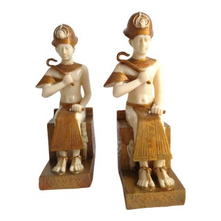 Vintage Egyptian Bookends - a Pair For Sale