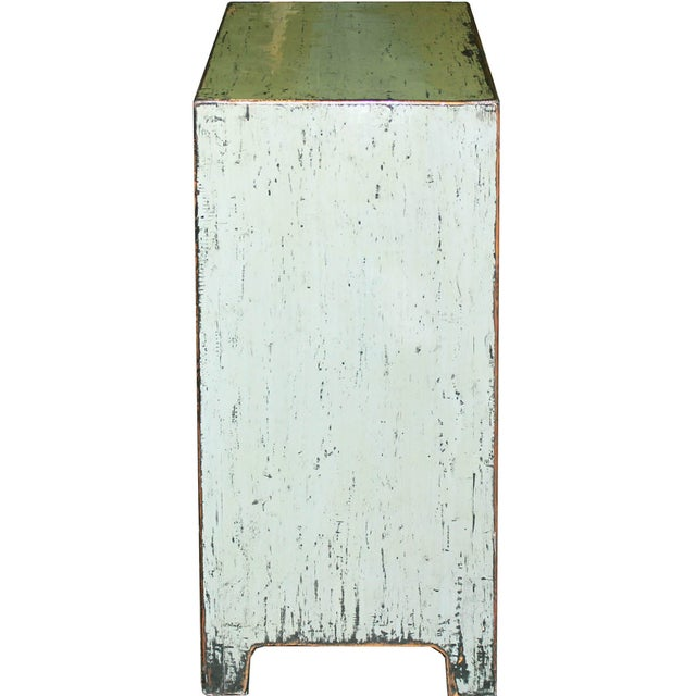 Distressed Side Chest in Sage For Sale - Image 7 of 7