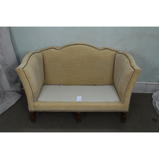 Traditional Wesley Hall William & Mary Style Custom Loveseat For Sale - Image 3 of 13