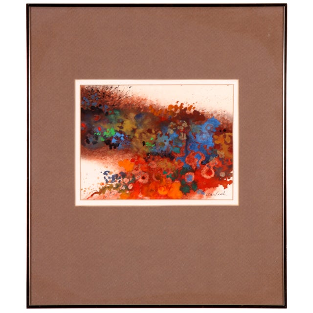 Color Explosion Collage Abstract Painting For Sale