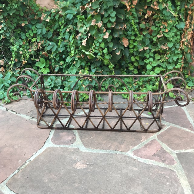 Wrought Iron Wall Planter For Sale - Image 4 of 4