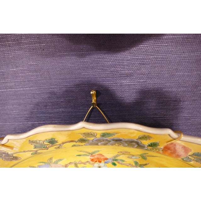 1980s 1980s Chinoiserie Pattern Charger For Sale - Image 5 of 6