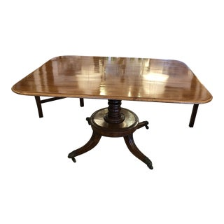 English 19th Century Mahogany George III Flip Top Dining Table For Sale