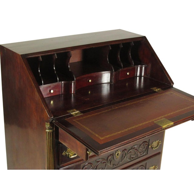 19th-C. Irish Georgian-Style Secretary Desk For Sale - Image 4 of 12