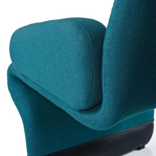 Jan Ekselius Style Modern Modular Teal Tweed Sectional Sofa Seating - Set of 10 For Sale - Image 10 of 13