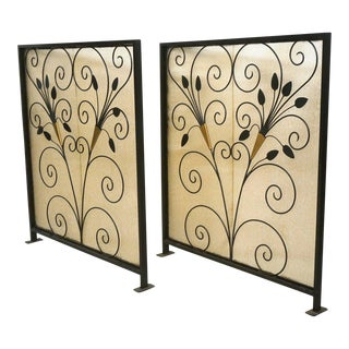 French Art Deco Room Dividers - A Pair