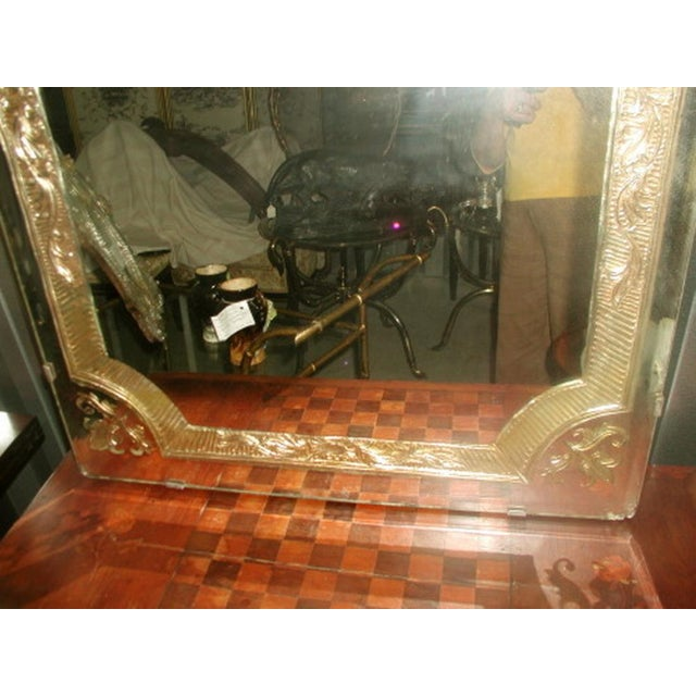 French Vintage 20th Century Beveled Foil Mirror For Sale - Image 3 of 8