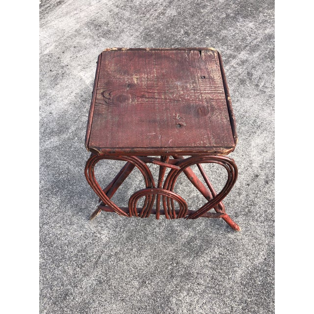 Rustic Twig Rustic Adirondack End Side Table For Sale - Image 3 of 9
