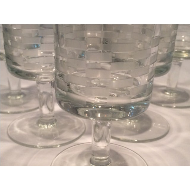 MCM Geometric Etched Champagne Flute Set - 6 - Image 5 of 8