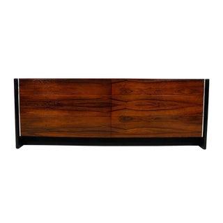 John Stuart Mid-Century Black Lacquer & Rosewood Dresser For Sale