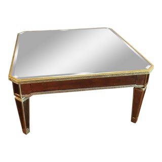 Horchow Amelie Mirrored Cocktail Table For Sale