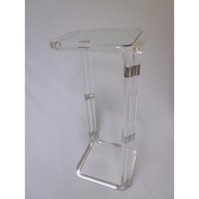 Hollywood Regency Tall Lucite Table - Image 9 of 9