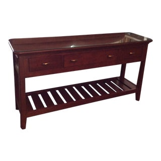 Kincaid Cherry Wood Park Sofa Table For Sale