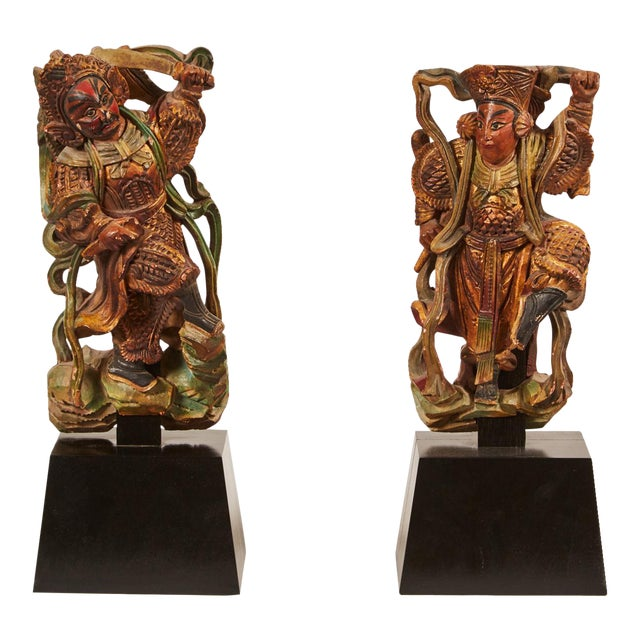 Pair of 20th Century Taiwanese Deity with Stand - Image 1 of 9