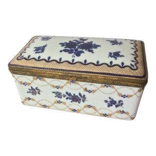 Antique Large Porcelain Box