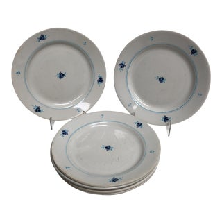 """1940s Vintage French """"Petite Rose"""" Plates - Set of 6"""