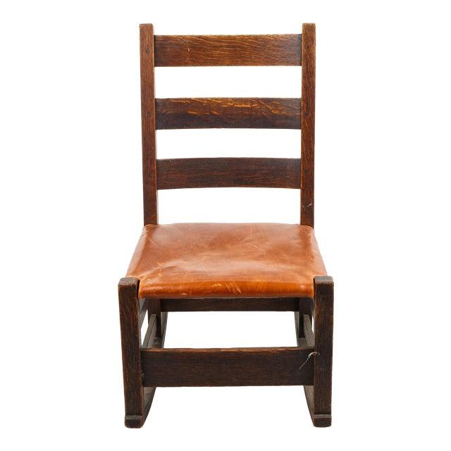 1910s Children S Arts Crafts Oak Rocking Chair Chairish