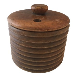 1920s English Traditional Walnut Tobacco Caddy For Sale