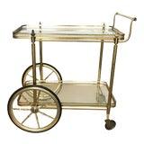 Image of Vintage Maison Jansen French Bar Cart For Sale